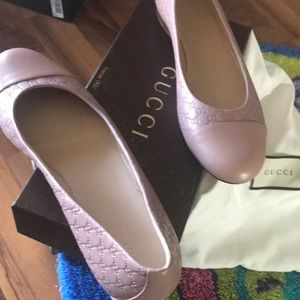 Pale pink original Gucci flats-Brand new with box